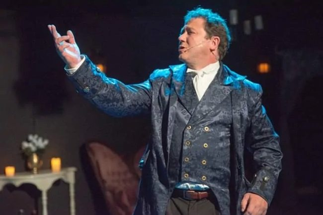 Christopher Overly as Dr. Jekyll in Jekyll & Hyde at Wolf Pack Theatre Compnay. Photo: Rachel Zirkin Duda