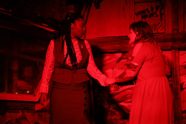 JacQuan Knox (left) as Alice Russell and Parker Bailey Steven (right) as Lizzie Borden in Lizzie. Photo: Shealyn Jae Photography
