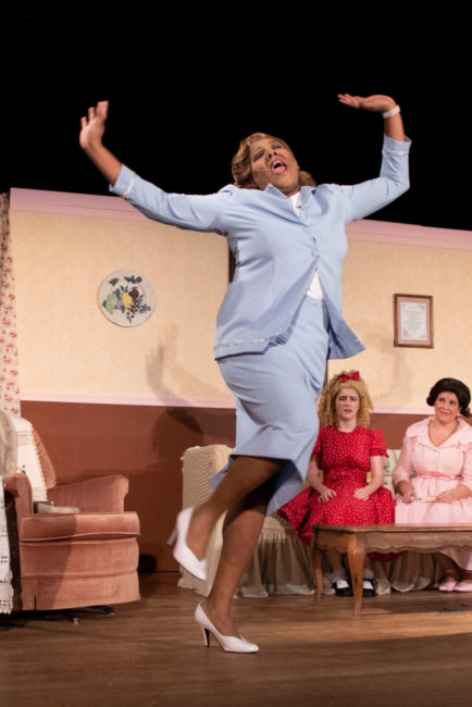 J Purnell Hargrove as Sylvia St. Croix in Ruthless! Photo: Shealyn Jae Photography