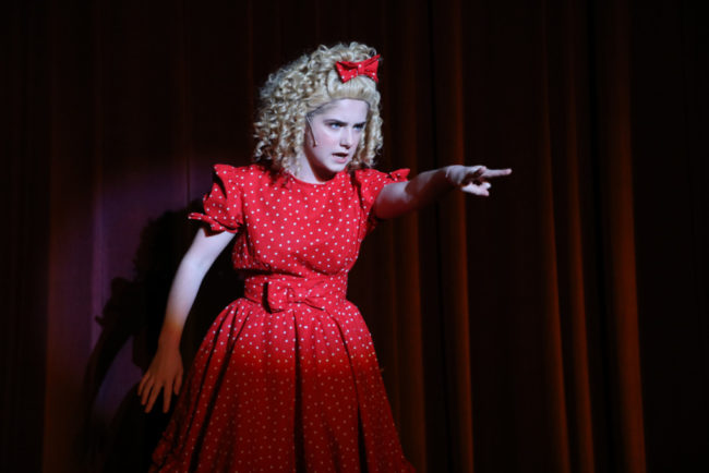 Brooke Webster as Tina Denmark in Ruthless. Photo: Shealyn Jae Photography