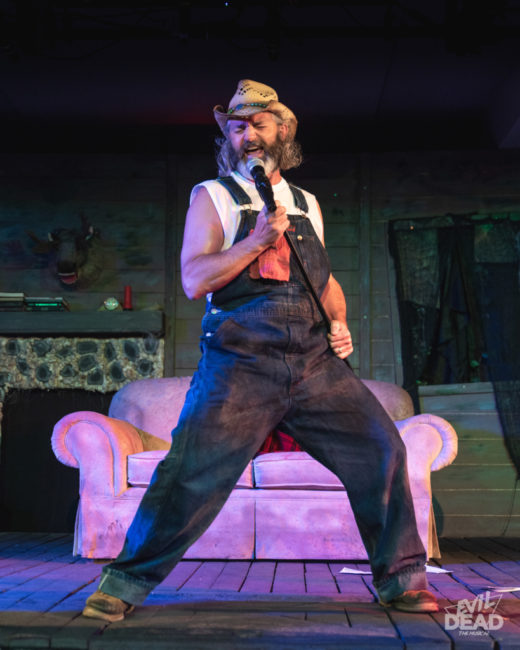 Steve Flickinger as Jake in Evil Dead: The Musical. Photo: Matthew Peterson