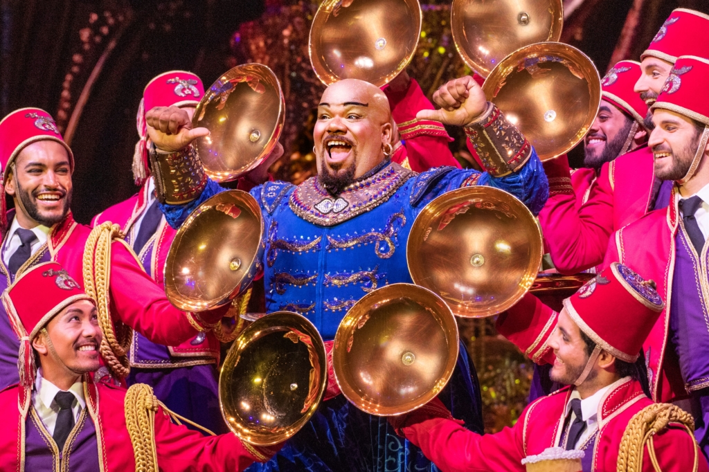 Korie Lee Blossey as The Genie in Aladdin. Photo: Deen van Meer