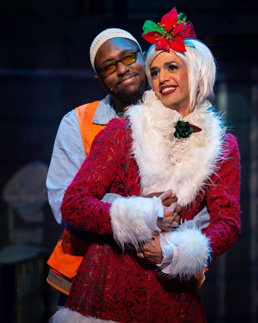 Shafiq Hicks (left) as Tom Collins and Joshua Tavares (right) as Angel in Rent. Photo: Amy Boyle