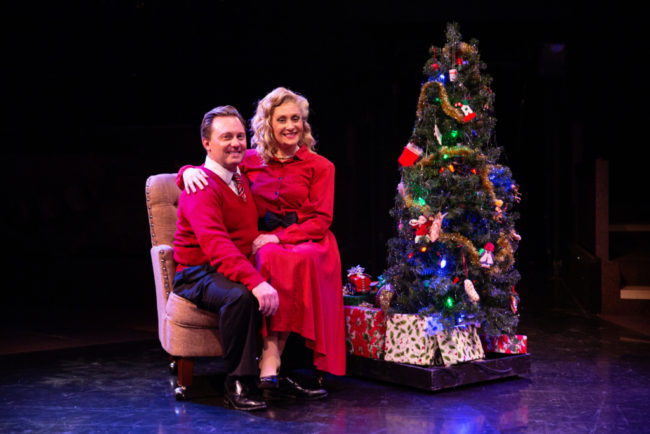 Jeffrey Shankle (left) as The Old Man and Heather Beck (right) as Mother in A Christmas Story. Jeri Tidwell Photography.