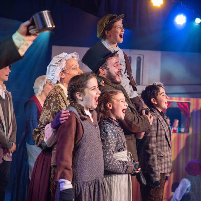 Scrooge at Scottfield Theatre Company. Photo: @machpe