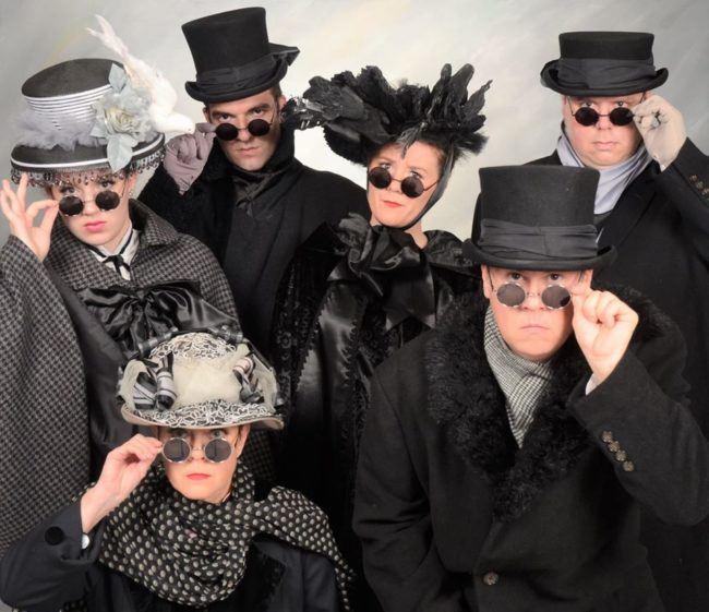 The ensemble of A Gentleman's Guide To Love and Murder at Dundalk Community Theatre