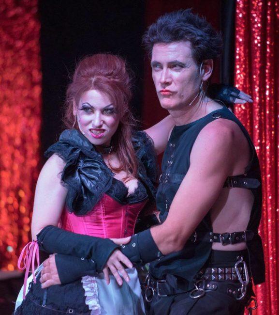 Melanie Kurstin (left) as Magenta and Jon Townson (right) as Riff Raff. Photo: Rachel Zirkin Duda