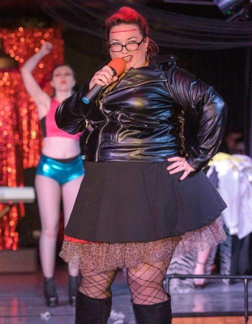 McKenna Gervase Kelly as Eddie and the company of Rocky Horror Show. Photo: Rachel Zirkin Duda.
