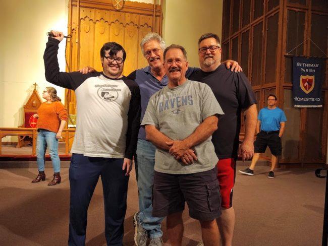 (L to R) Robert Howard, Nick Ruth, Jim Morgan, and Mike Zellhofer in Man of La Mancha