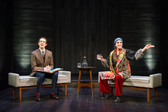 Jonathan David Martin (left) and Susan Rome (right) in Edward Albee's Occupant at Theater J Photo: C. Stanley Photography
