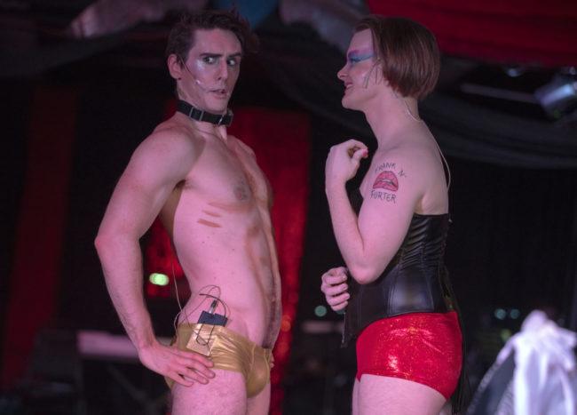 Alexander Bruce Gordon (left) as Rocky and Kenneth Lautz (right) as Frank 'N' Furter. Photo: Rachel Zirkin Duda
