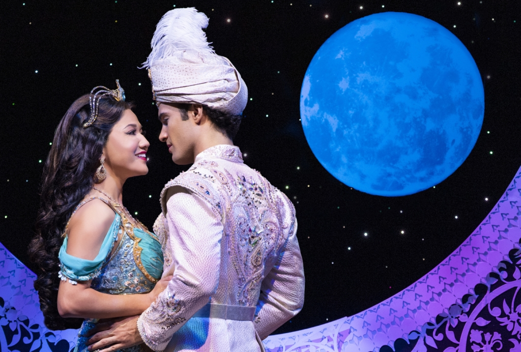 Kaenaonālani Kekoa (left) as Jasmine and Jonah Ho'okano (right) as Aladdin. Photo: Deen van Meer