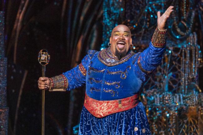Korie Lee Blossey as Genie in the North American Tour of Aladdin. Photo: Deen van Meer