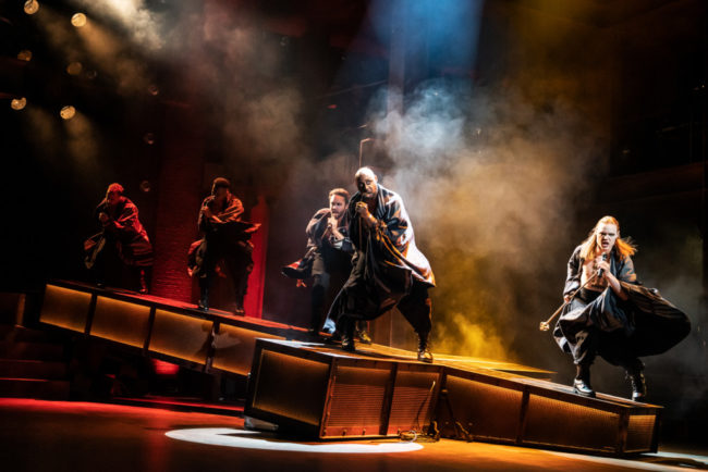 Alvin Crawford, Tyce Green and the company of the North American Tour of JESUS CHRIST SUPERSTAR. Photo by Matthew Murphy
