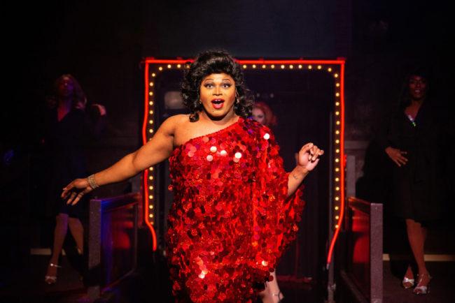 DeCarlo Raspberry as Lola in Kinky Boots. Photo: Jeri Tidwell Photography