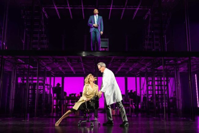 Brandon Victor Dixon, Rachel Bay Jones, and Michael Park in Broadway Center Stage's production of Next to Normal. Photo by Jeremy Daniel.