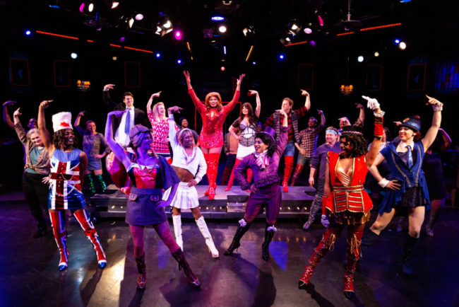 The cast of Kinky Boots at Toby's Dinner Theatre. Photo: Jeri Tidwell Photography