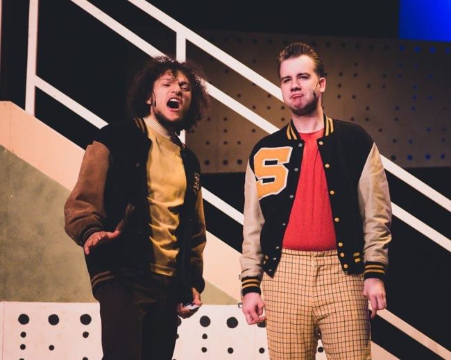 Zephyr Handerson-Copeland (left) as Wayne and Kody Ball (right) as Huey in Loserville. Photo: Justin Patterson (left) as Francis Wier and Noah Haren (right) as Marvin Camden in Loserville. Photo: Stephanie Zacharia Hatmaker