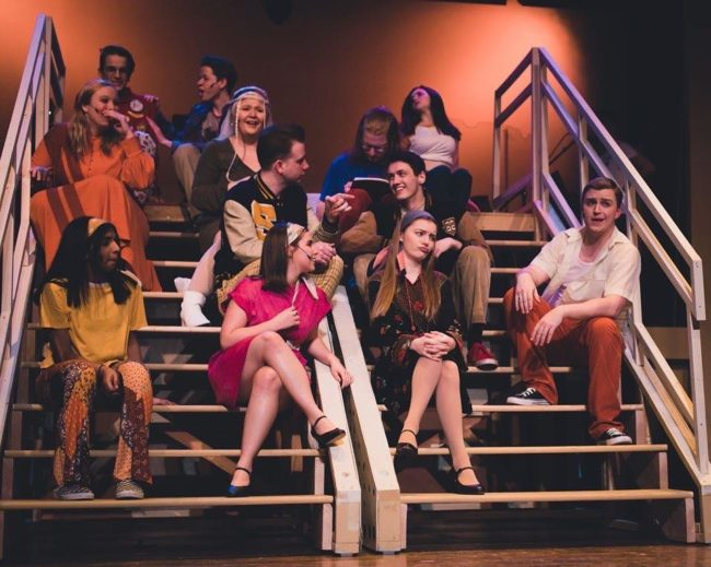 The cast of Loserville at The Fredericktowne Players. Photo: Stephanie Zacharia Hatmaker