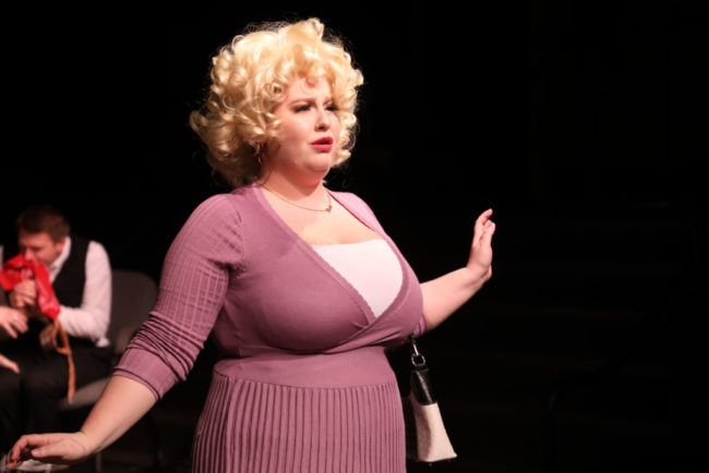 Sarah Burrall as Doralee in 9 To 5 at Stand Up For...Theatre. Shealyn Jae Photography