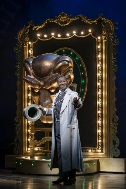 Cleavant Derricks as The Wonderful Wizard in Wicked. Photo: Joan Marcus