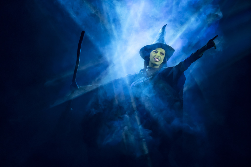 Talia Suskauer as Elphaba. Photo: Joan Marcus