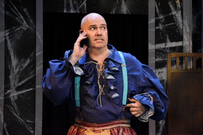 Matthew R. Wilson in The Complete Works of William Shakespeare Abridged. Photo: Brandon W. Vernon