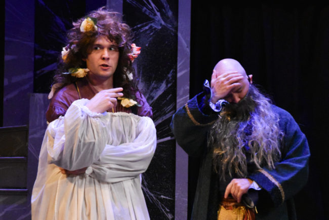 Elliott Kashner (left) and Matthew R. Wilson (right) in The Complete Works of William Shakespeare Abridged. Photo: Brandon W. Vernon